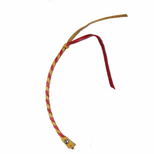 Pulsera Redonda 4 Hilos. Amarillo y Rojo